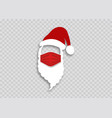 santa claus in a medical mask for health christmas vector image vector image