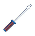 screwdriver icon tool object support technology vector image