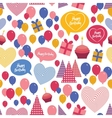 Seamless background - happy birthday Heart gift vector image vector image