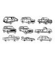 set car sketches vector image