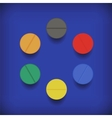 Set of Colorful Pills vector image vector image