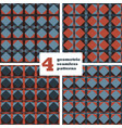 set of geometric seamless pattern abstract vector image vector image