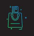 shopping bag icon design vector image vector image