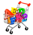 shopping cart ace vector image