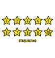 star rating minimal design black line feedback vector image vector image