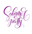 summer party typography on white isolated vector image