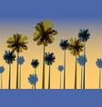 tropical sunrise at seashore sea landscape with vector image vector image