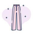 trouser women linecolor vector image
