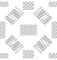 waves icon seamless pattern on white background vector image