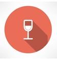 Wine glasses icon vector image vector image