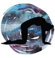 women silhouette cat yoga pose marjaryasana vector image vector image