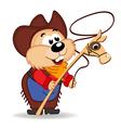 hamster cowboy vector image