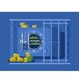 Bank safe flat design vector image