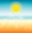 Blurred summer background Sun shines brightly vector image