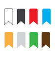 bookmark icon on white background bookmark sign vector image