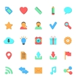 set of flat web icons vector image