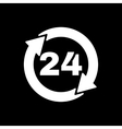 The 24 hours icon Twenty-four hours open symbol vector image