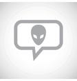 Alien grey message icon vector image vector image