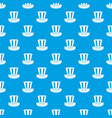 american hat pattern seamless blue vector image