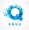 aqua q logo vector image vector image