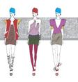artistic fashion sketch