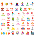 biggest collection of logos and holiday vector image vector image