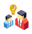 brainstorming isometric vector image vector image