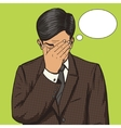 Businessman with facepalm gesture pop art vector image