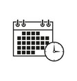 calendar work time icon vector image