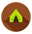 camping tent circle icon vector image vector image