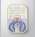 canned ocean fish abstract aluminium vector image