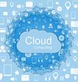 cloud computing concept Modern design template vector image vector image