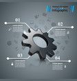 cogwheel gear icon business infographics vector image