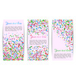 collection of banners with confetti vector image vector image