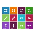 Collection of touch screen gesture icons on color vector image vector image