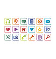 colored icons for the web full set vector image