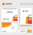 company calender and diary design with shopping vector image vector image