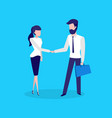 conference meeting man and woman business deal vector image vector image