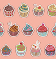 Cupcake pattern vector image vector image