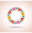 cute hearts circle love symbol sign icon concept vector image vector image