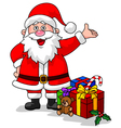 Cute Santa with Gift vector image vector image