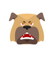 dog angry emoji pet evil emotions avatar bulldog vector image vector image