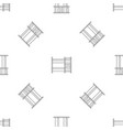 double kid bed pattern seamless vector image vector image
