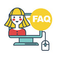 faq frequently asked question online support vector image vector image