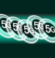 fast speed internet 5g background concept vector image vector image
