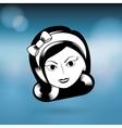 female avatar design vector image vector image