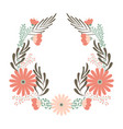 flower wedding wreath ornament concept vector image