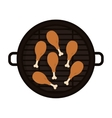Food grilled with chicken thighs vector image