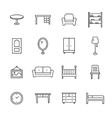 Furniture Line Icons vector image vector image