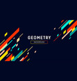 geometry abstract colorful banner design vector image vector image